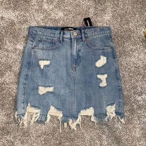 NWT Express Denim Skirt